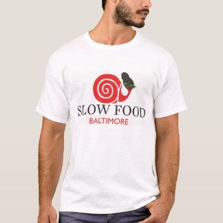 T-shirt lent de coton de nourriture