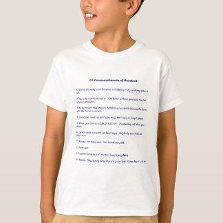 T-shirt Les 10 commandements du base-ball