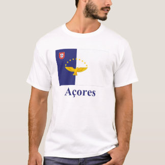 T-shirt Les Açores diminuent avec le nom dans le Portugais