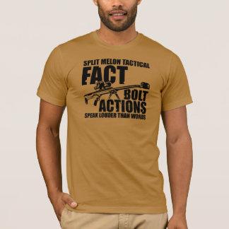 T-shirt Les actions de boulon parlent plus fort que des