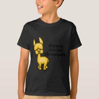 T-shirt Les alpaga ont mangé mon travail