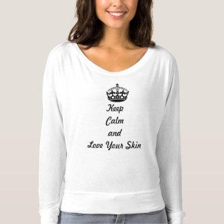 """T-shirt Les amants de soins de la peau """"gardent le calme"""