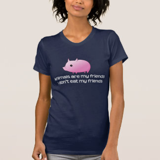 T-shirt Les animaux sont mes amis que je ne mange pas mes