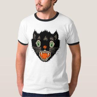 T-shirt les années 1920 - chat noir vintage de Halloween