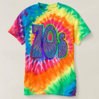 T-shirt les années 70 le slogan teignent en nouant !