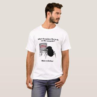 T-shirt Les araignées créent la plaisanterie de sites Web