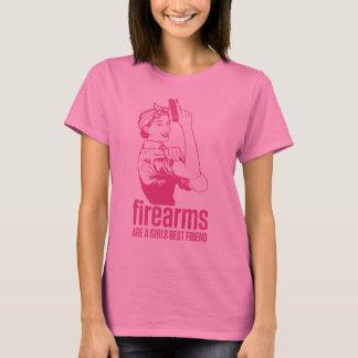 T-shirt Les armes à feu sont une chemise de meilleur ami