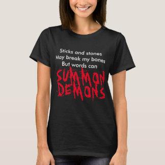 T-shirt Les bâtons et les pierres peuvent casser ma