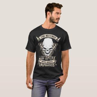T-shirt Les battements continuent jusqu'à ce que le moral