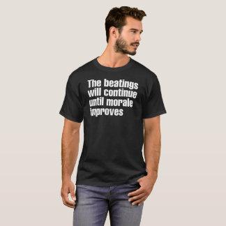 T-shirt Les battements continueront la pièce en t de