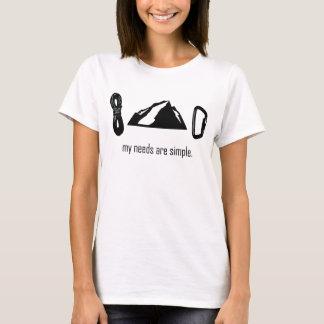 T-shirt Les besoins simples (escalade de roche)