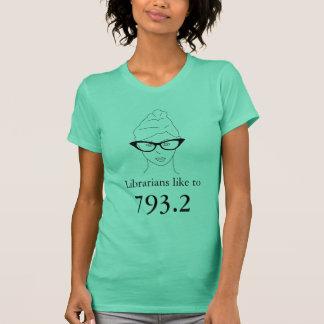 T-shirt Les bibliothécaires aiment à 793,2