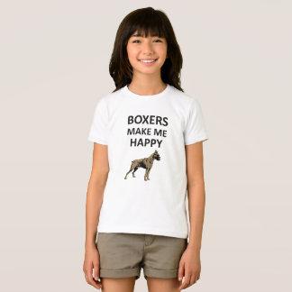 T-shirt Les boxeurs me rendent heureux, chemise d'amoureux