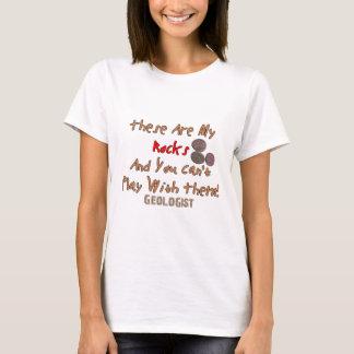"""T-shirt Les cadeaux drôles de géologue """"ceux-ci sont mes"""