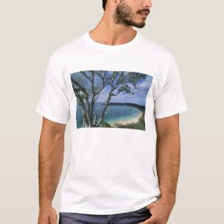 T-shirt Les Caraïbe, île d'Anguilla, port de baie de route