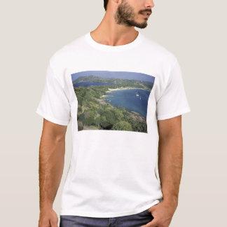 T-shirt Les Caraïbe, les Antilles, St Lucia. Vue de