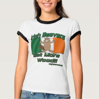 T-shirt Les castors irlandais deviennent plus en bois