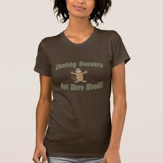 T-shirt Les castors potelés deviennent plus en bois