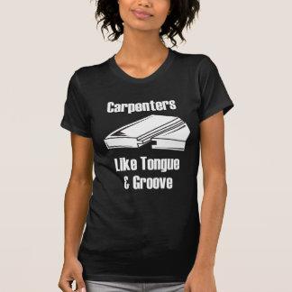T-shirt Les charpentiers aiment la langue et la cannelure