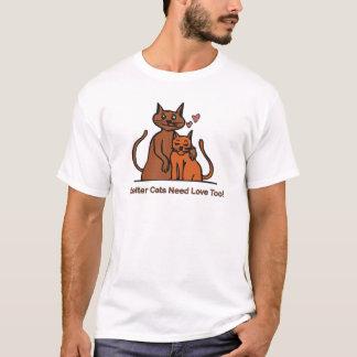 T-shirt Les chats d'abri ont besoin d'amour aussi !