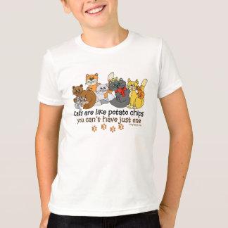 T-shirt Les chats sont comme des pommes chips