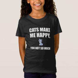 T-Shirt Les chats vous rendent m'heureux pas tellement