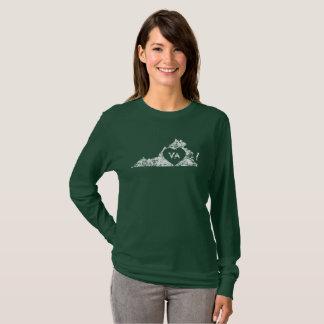 T-shirt Les chemises d'I d'amour de la Virginie de femmes