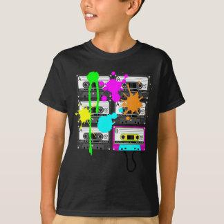 T-shirt les chemises foncées du garçon de bande de mélange