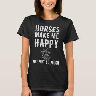 T-shirt Les chevaux me rendent heureux