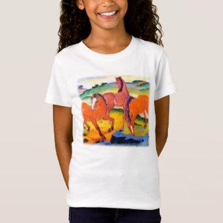 T-Shirt Les chevaux rouges par Franz Marc