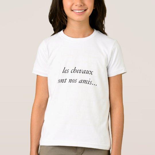 T-shirt les chevaux sont nos amis...