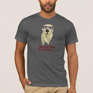 T-shirt Les chiens de service sont plus futés