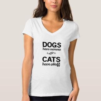 T-shirt Les chiens ont des propriétaires, chats ont le