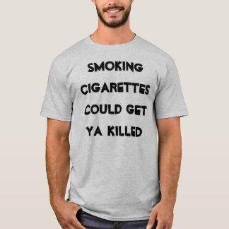 T-shirt les cigarettes de tabagisme ont pu obtenir le ya