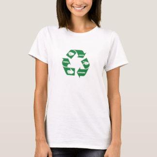 T-shirt Les ciseaux de papier de roche - RÉUTILISEZ !