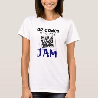 T-shirt Les codes de QR sont ma confiture