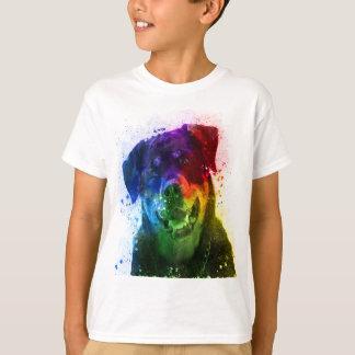 T-shirt Les couleurs de l'amour sont un rottweiler