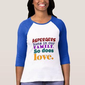 T-shirt Les courses d'Aspergers dans notre famille ainsi