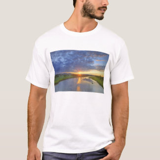 T-shirt Les crochets de rivière de poudre durent la