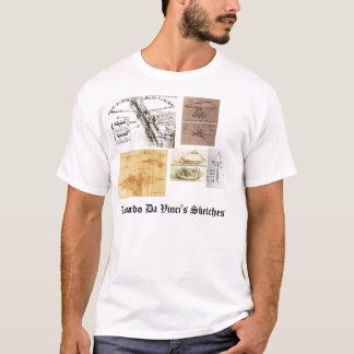 T-shirt Les croquis de Leonardo da Vinci