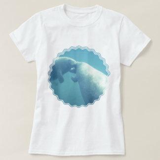 T-shirt Les dames de lamantins de bébé ont adapté le