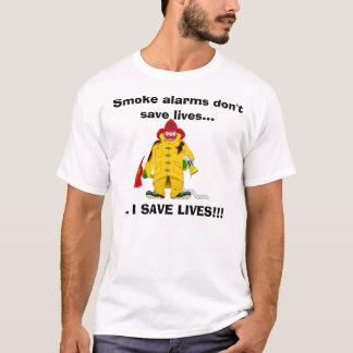 T-shirt Les détecteurs de fumée de sapeur-pompier ne