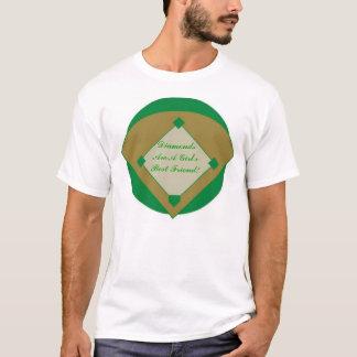 T-shirt Les diamants sont un meilleur ami de filles