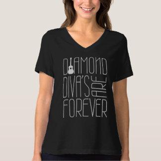 T-shirt Les divas de diamant sont Forever ! Sur la chemise