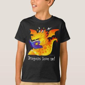 T-shirt Les dragons drôles faits sur commande de l'enfant