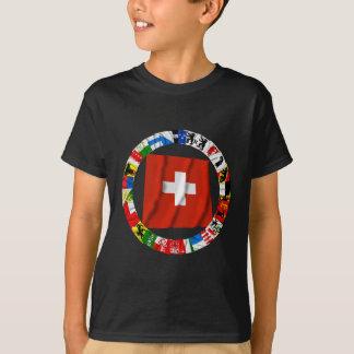 T-shirt Les drapeaux des cantons de la Suisse