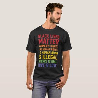 T-shirt Les droits des matière-Femmes des vies de noir