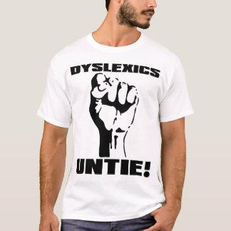 T-shirt Les dyslexiques délient la chemise drôle