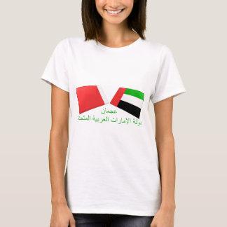 T-shirt Les EAU et tuiles de drapeau d'Ajman