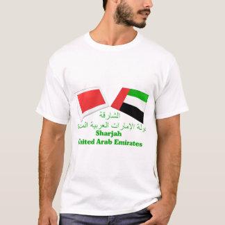 T-shirt Les EAU et tuiles de drapeau du Charjah